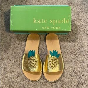 Kate Spade pineapple sandals size 9 1/2